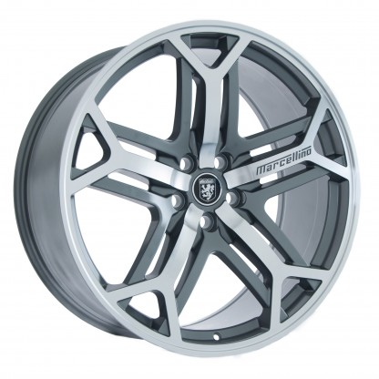 "MARCELLINO WHEELS 22"" Yorkshire Gunmetal Machined Face - Fits Land Rover"
