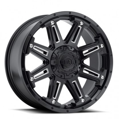 18 x 9 ET+18 741BM Mechanic in Gloss Black Machined Milled