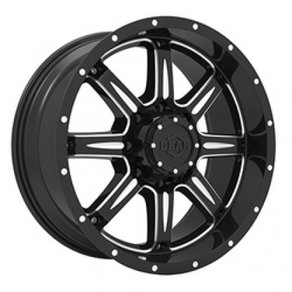 18 x 9 ET+18 726BM BIG BLOCK in Gloss Black Machined Milled