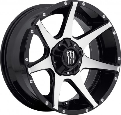 20 x 9 ET+18 647MBin Gloss Black Machined Face