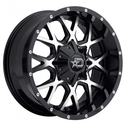20 x 9 ET+18 646MB in Gloss Black Machined Face