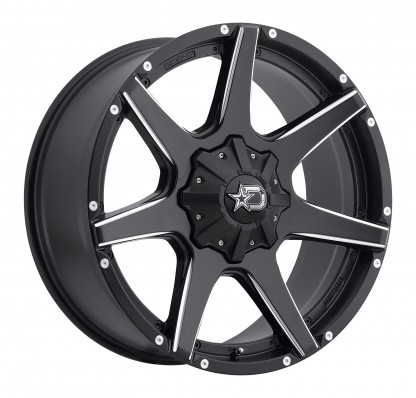 22 x 9.5 ET+18 647BM in Gloss Black Machined Milled