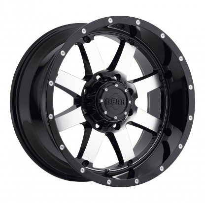 18 x 9 ET+18 726M Big Block in Gloss Black Machined Face