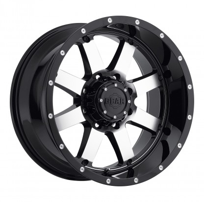 20 x 9 ET+18 726M Big Block in Gloss Black Machined Face