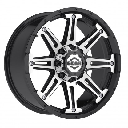 17 x 9 ET+18 741MB MECHANIC in Gloss Black Machined Face