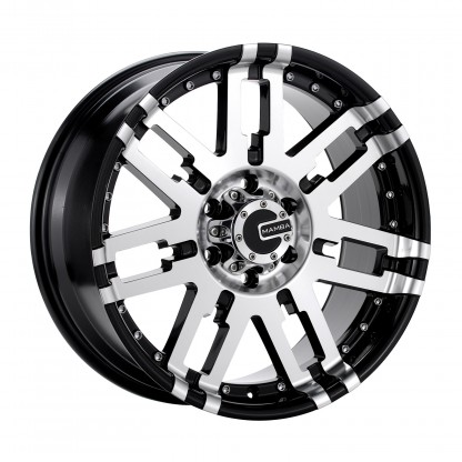 20 x 9 ET+30 582MB M2X in Gloss Black Machined Face