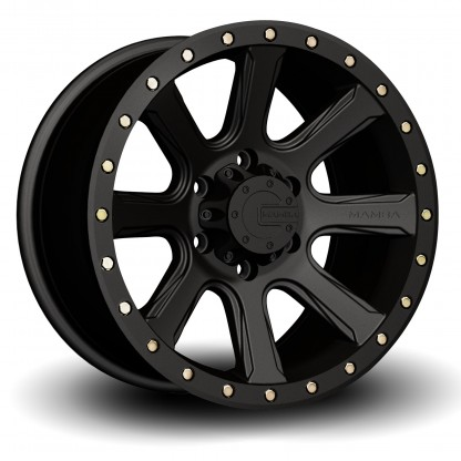 17 x 9 ET+25 588B M16 in Matte Black