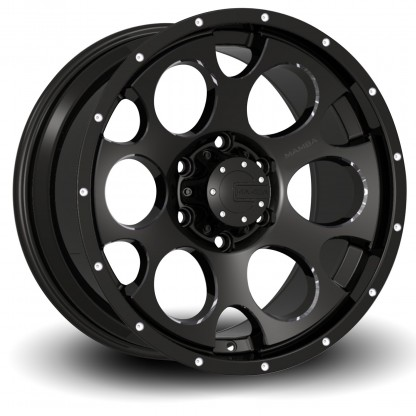 17 x 9 ET+25 589B M17 in Gloss Black Machined Milled