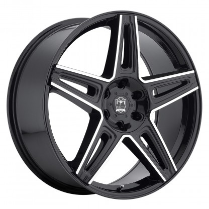 22 x 9 ET+20 415MB MYTHIC in Gloss Black Machined Milled