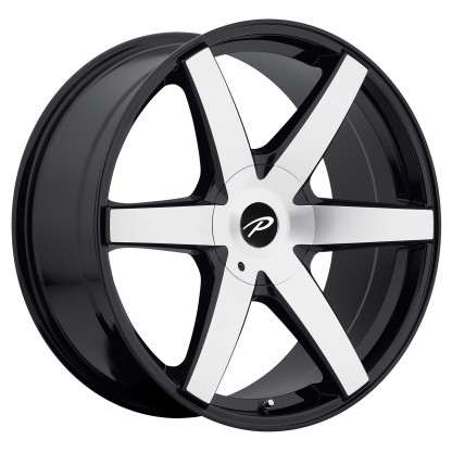 22 x 9.5 ET+25 785MB OVATION in Gloss Black Machined Face