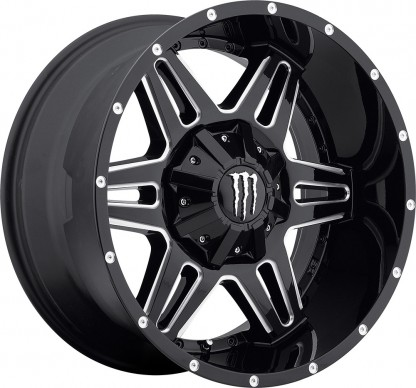 18 x 9 ET+18 538BMin Gloss Black Machined Milled