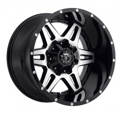 20 x 9 ET+18 538MB in Gloss Black Machined Face