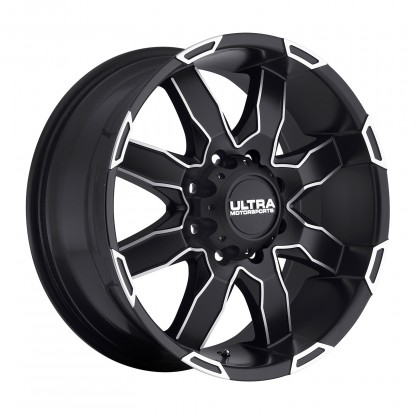 18 x 9 ET+25 225U PHANTOM in Matte Black Machined Milled