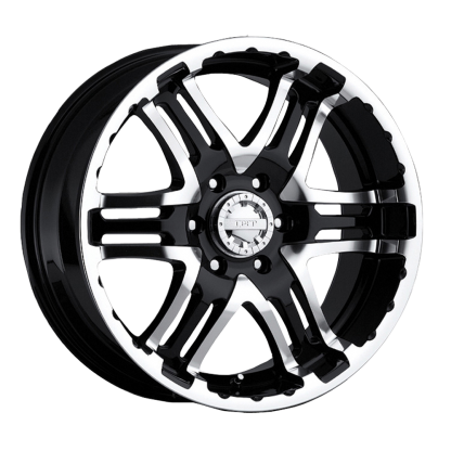 17 x 9 ET+30 713MB DOUBLE PUMP in Gloss Black Machined Face