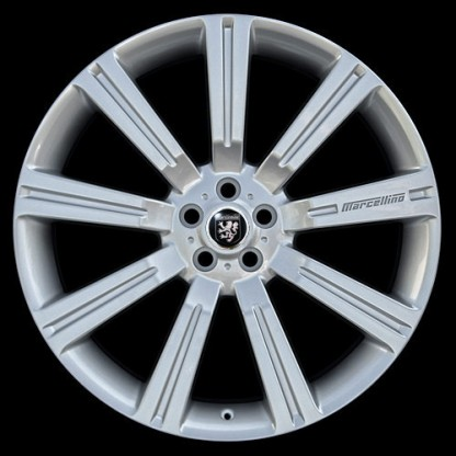 "24"" Silverstone Hyper Silver - Fits Land Rover"