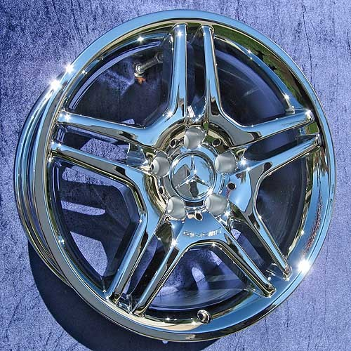 17 x 7 5 mercedes benz c clk class amg front 65293 in for Mercedes benz chrome rims