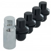 14 x 1.5 Mag Wheel Lock Set Matte Black - Fits Land Rover
