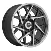 17 x 9 ET+20 592MB M20 in Gloss Black Machined Face