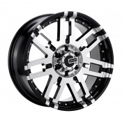 17 x 8 ET+25 582MB M2X in Gloss Black Machined Face
