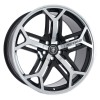 22 Marcellino Yorkshire Gloss Black Machined Face Wheels Rims