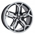 "22"" Yorkshire Gloss Black Machined Face - Fits Land Rover"