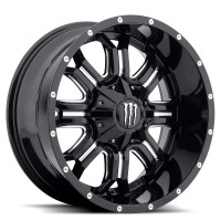 18 x 9 ET+18 535BMin Gloss Black Machined Milled