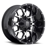20 x 9 ET+18 645MBin Gloss Black Machined Face