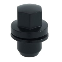 Set of 20 - 14 x 1.5 Mag Lug Nut Matte Black - Fits Land Rover