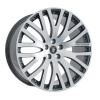 "22"" Kensington Gunmetal Machined Face - Fits Land Rover"