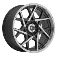 20 x 9 ET+20 592MB M20 in Gloss Black Machined Face