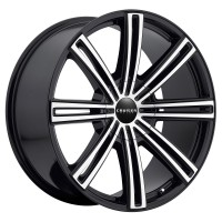 22 x 9.5 ET+25 916MB OBSESSION in Gloss Black Machined Face