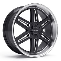 22 x 9.5 ET+25 920MB ICONIC in Gloss Black Machined Lip