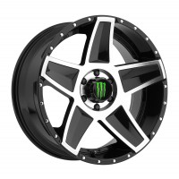 20 x 9 ET+18 648MBin Gloss Black Machined Milled