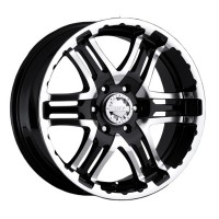 20 x 9 ET+30 713MB DOUBLE PUMP in Gloss Black Machined Face