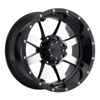 17 x 9 ET+18 726M BIG BLOCK in Gloss Black Machined Face