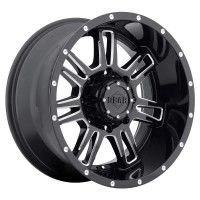 20 x 9 ET+18 737BM CHALLENGER in Gloss Black Machined Milled