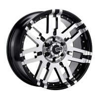 18 x 9 ET+25 582MB M2X in Gloss Black Machined Face
