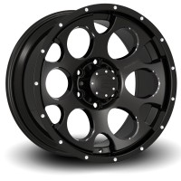 18 x 9 ET+25 589B M17 in Gloss Black Machined Milled