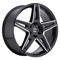 20 x 8.5 ET+20 415MB MYTHIC in Gloss Black Machined Milled
