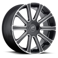22 x 9.5 ET+25 410BM Divine in Gloss Black Machined Milled