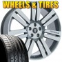 "22"" Cambridge Gunmetal Machined Face - Wheel & Tire Package - Fits Land Rover"